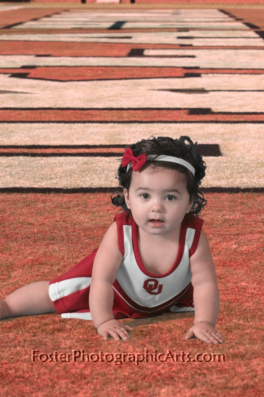 9 month old cheerleader